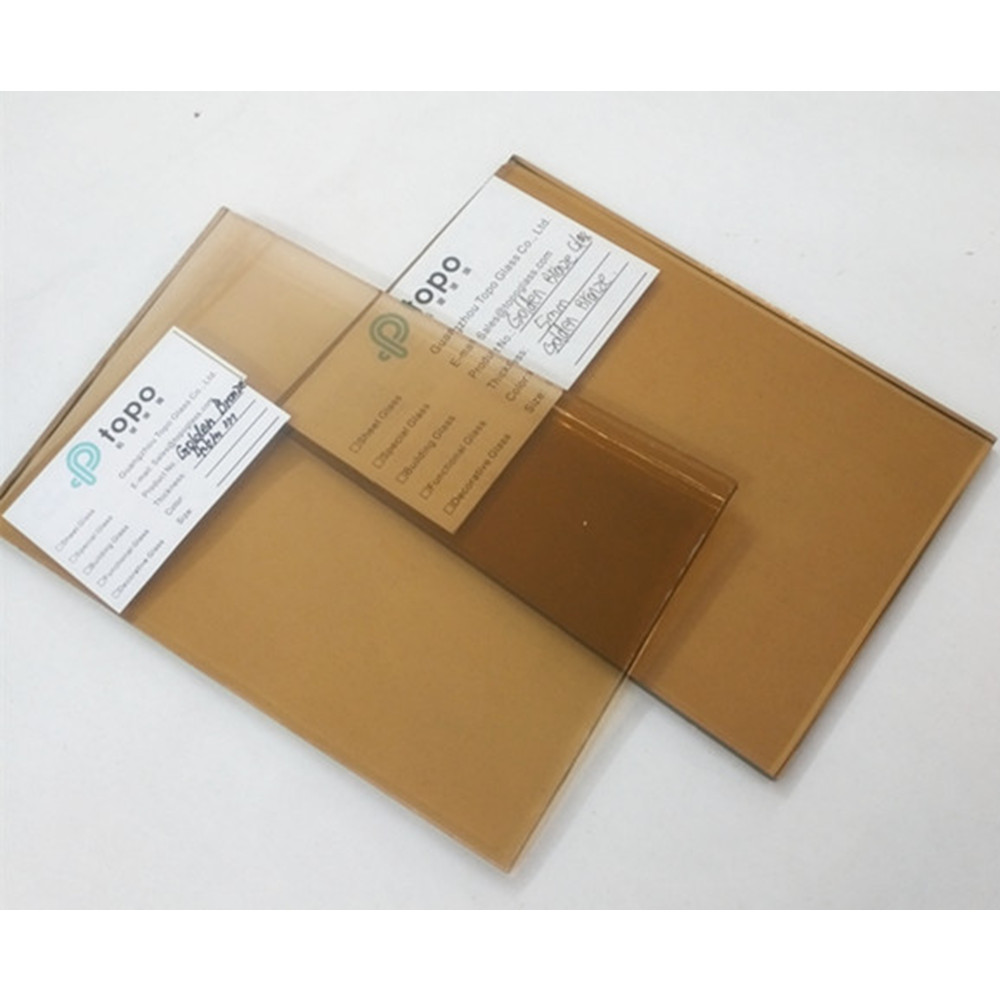 Different Thickness Light Bronze/Euro Brown Float Glass
