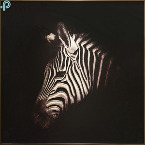 Modern Style Environmental Protection 3D Zebra Glass Painting for Decoration