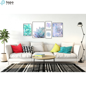 High Quality Five Sets Green Plants Wall Hanging Art Image Painting in Guangzhou