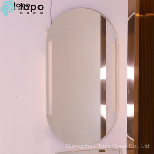 5mm Bathroom Ellipse HD LED Anti-fog Silver Mirror