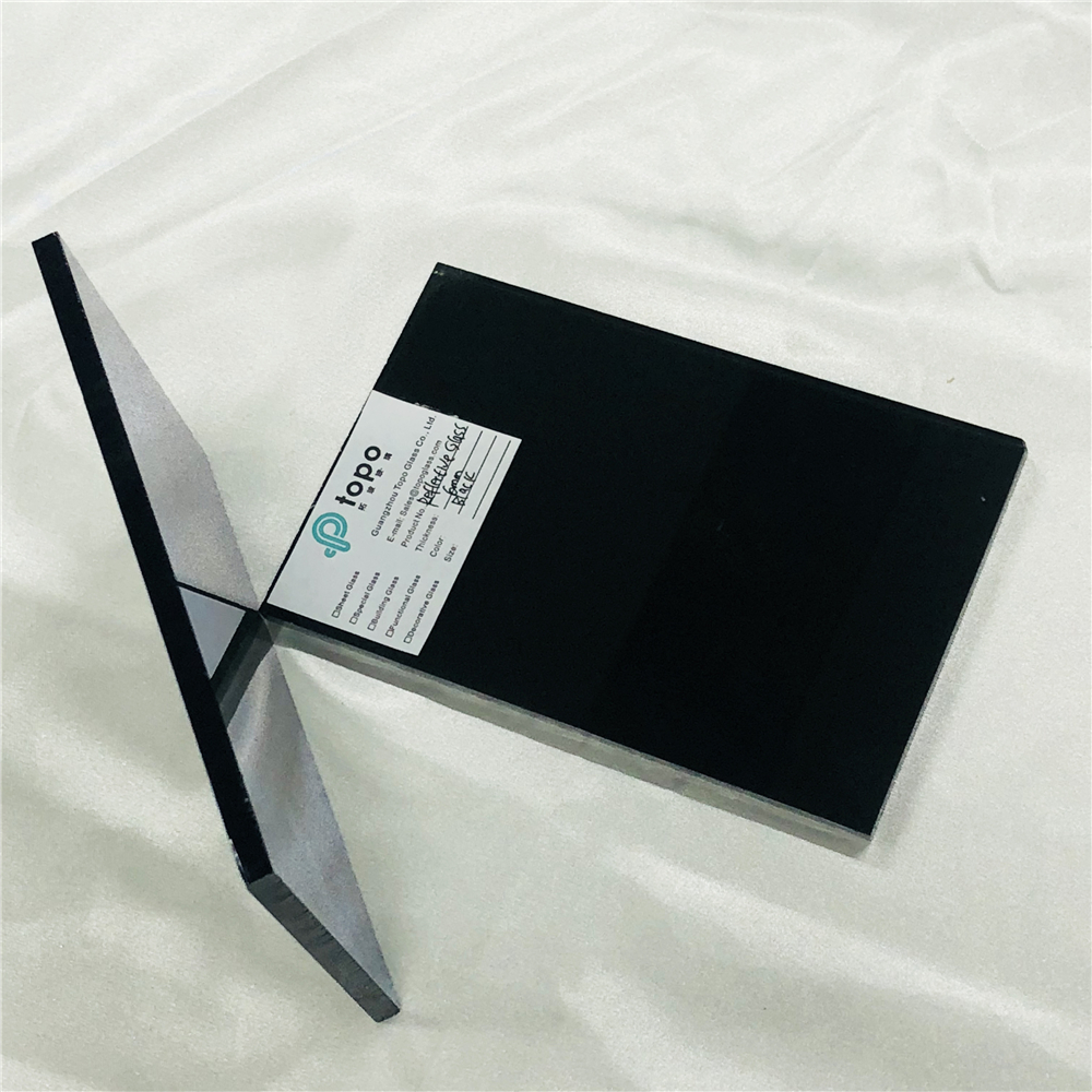 Black Coated Sheet Glass For Building