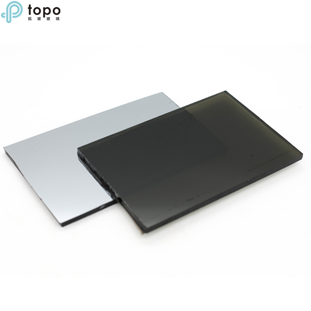 4mm-10mm Coated Reflective Black Glass with Best Price