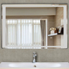 5mm  Bathroom Rectangle Shape HD Light Silver Mirror